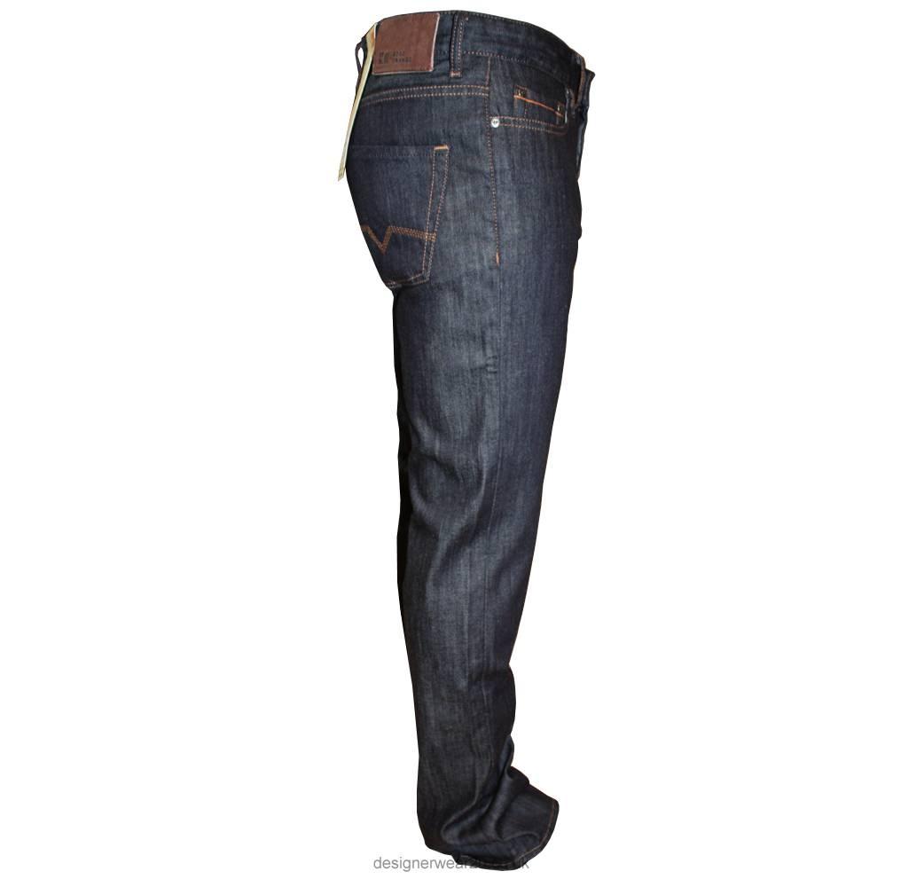 hugo boss orange 25 dark navy regular fit jeans 32 leg. Black Bedroom Furniture Sets. Home Design Ideas
