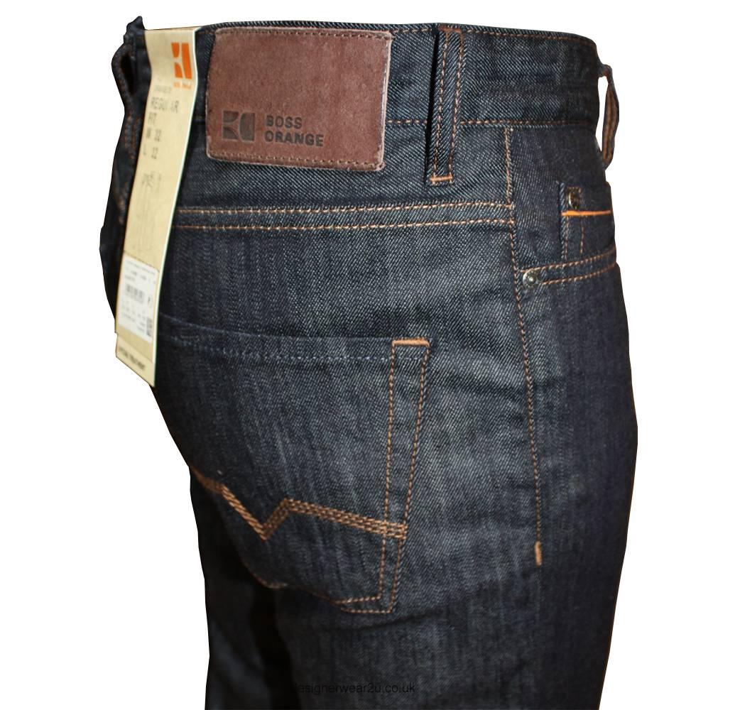 hugo boss orange 25 dark navy regular fit jeans 32 leg jeans from designerwear2u uk. Black Bedroom Furniture Sets. Home Design Ideas