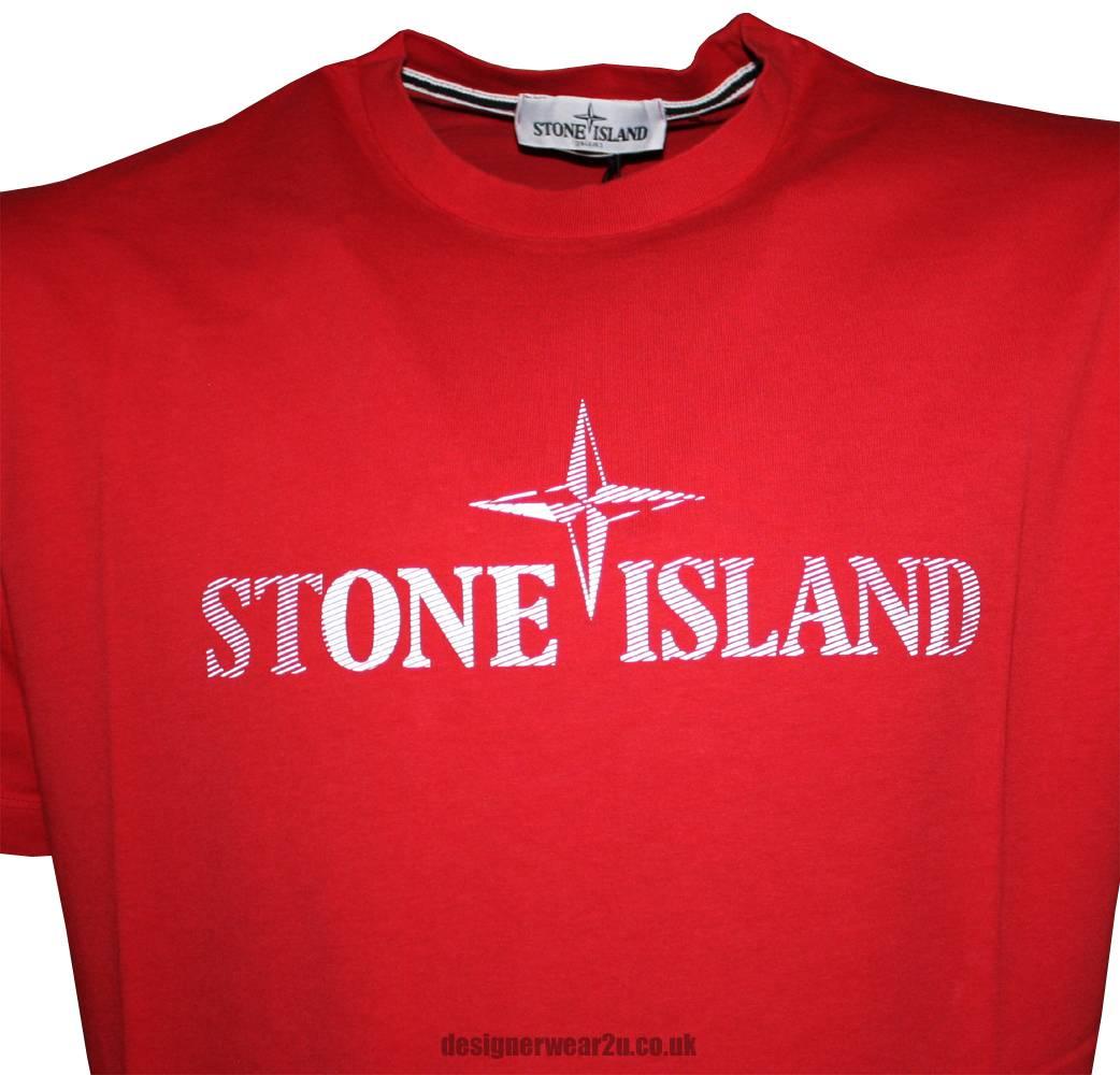 stone island large logo t shirt