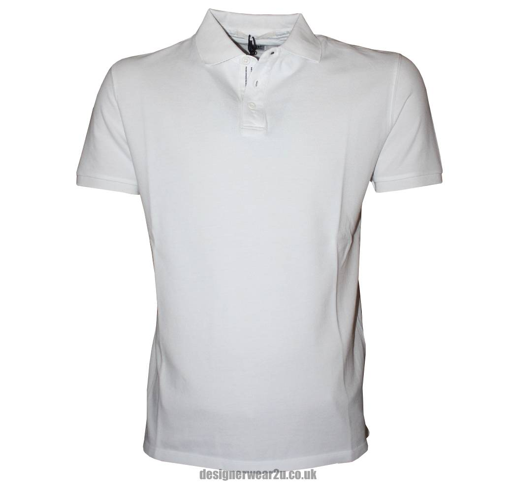 CP Company White Plain Polo Shirt - Polo Shirts from ...