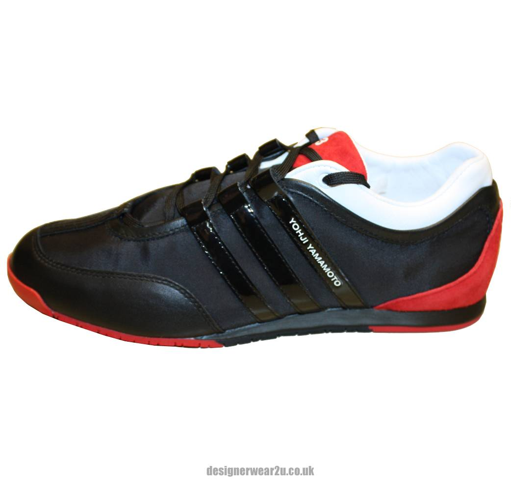 Y3 Black Amp Red Boxing Trainer Footwear From