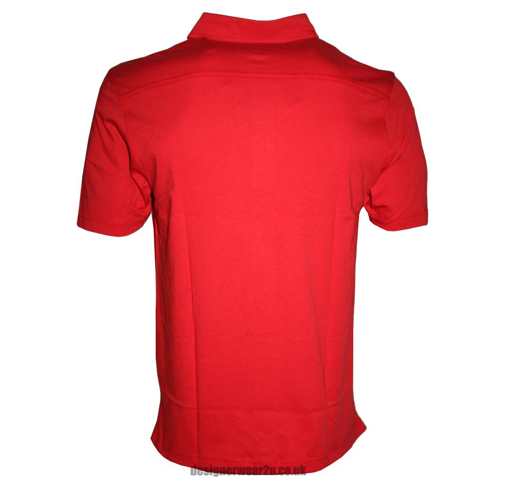 ea7 emporio armani red soft cotton polo shirt polo