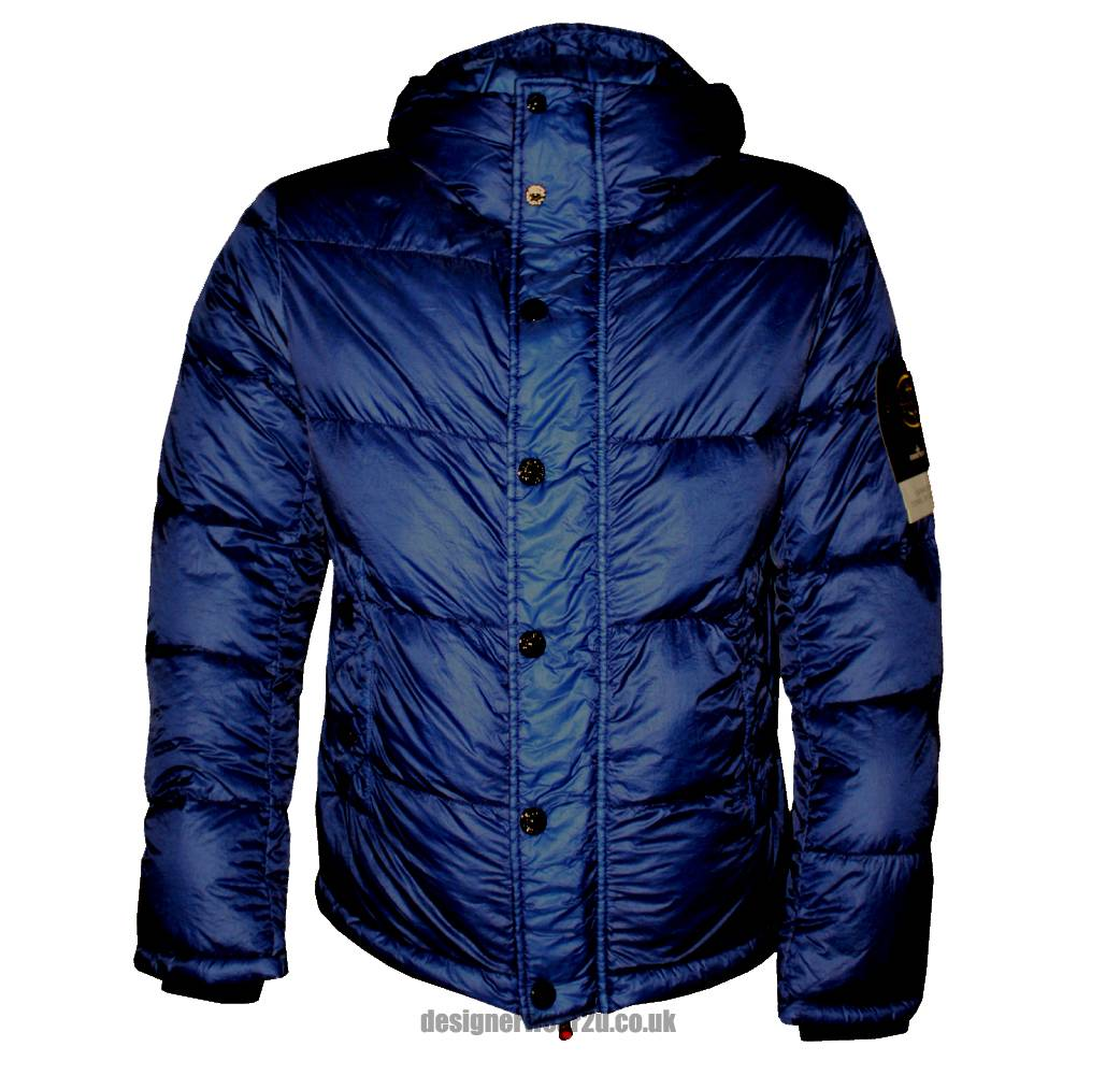 stone island blue hooded down jacket jackets from. Black Bedroom Furniture Sets. Home Design Ideas