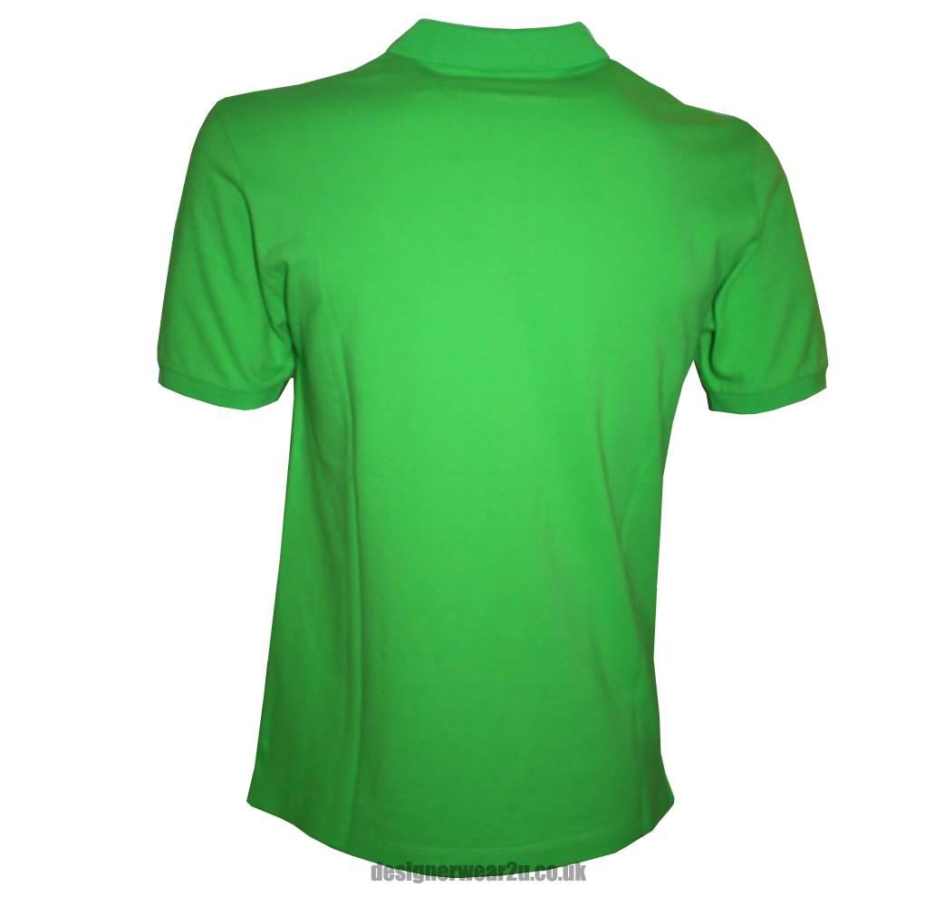 Stone island lime green cotton pique polo shirt polo for Mens lime green polo shirt
