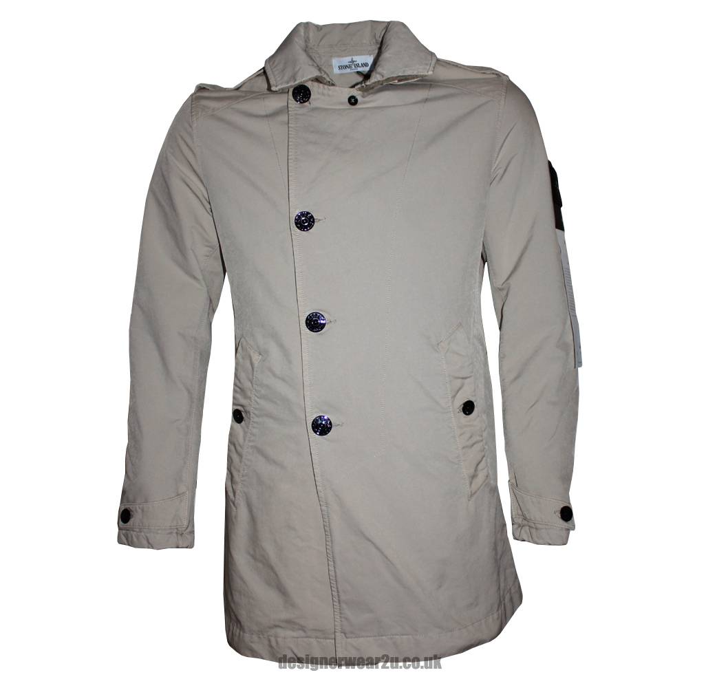stone island cream david tc trench style jacket jackets from designerwear2u uk. Black Bedroom Furniture Sets. Home Design Ideas