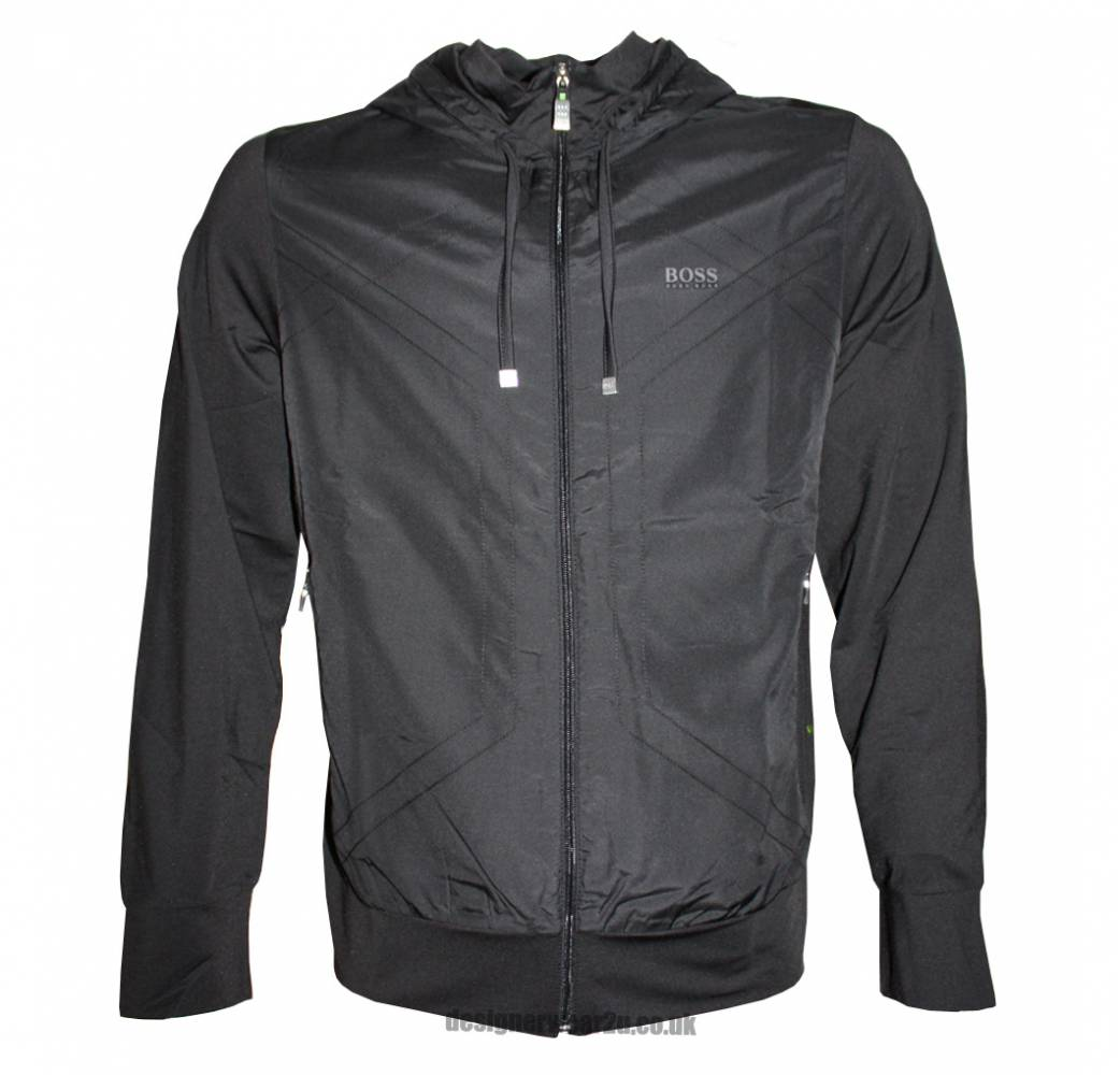 hugo boss skanni black high performance lightweight hooded jacket jackets from designerwear2u uk. Black Bedroom Furniture Sets. Home Design Ideas