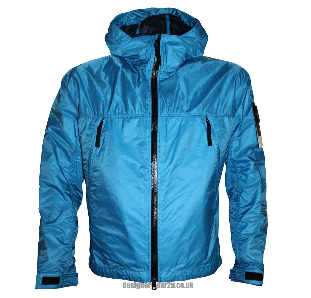 stone island blue micro rip stop hooded jacket jackets from designerwear2u uk. Black Bedroom Furniture Sets. Home Design Ideas
