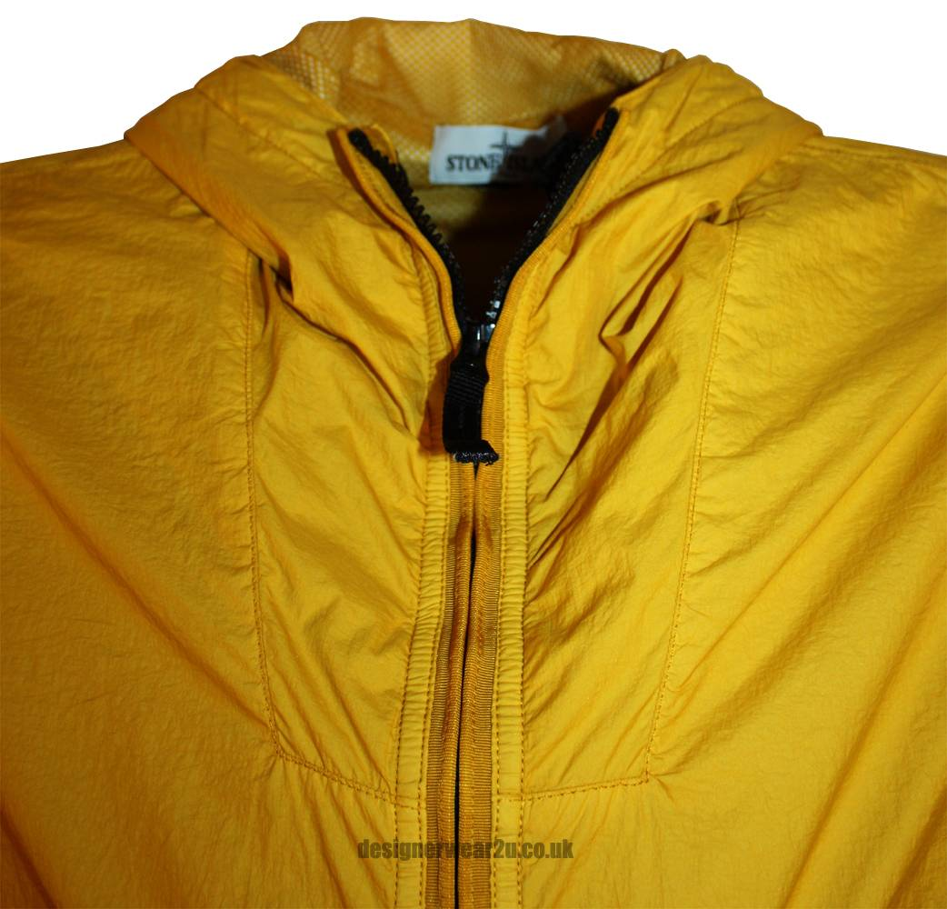Stone Island Stone Island Yellow Membrana Hooded Jacket
