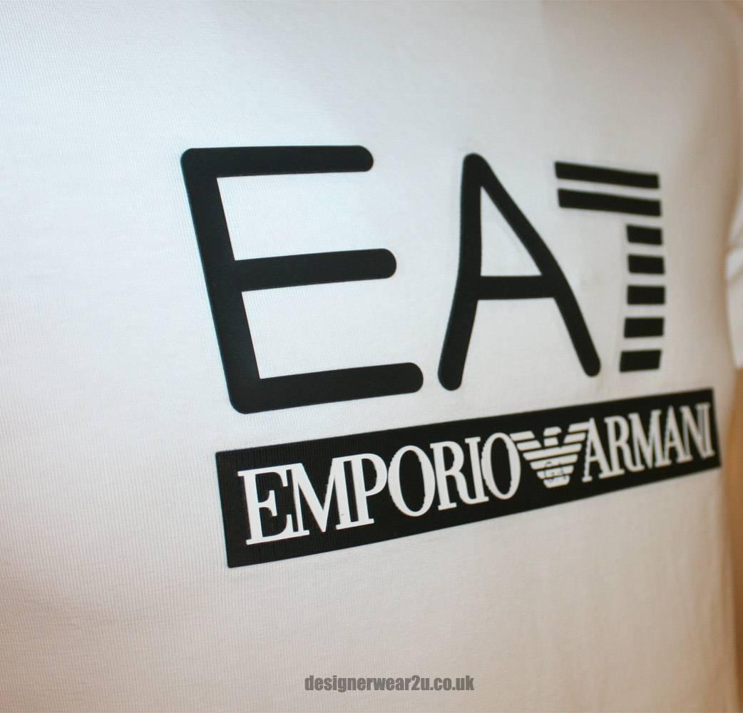 Emporio armani white ea7 rubber logo t shirt t shirts - Emporio giorgio armani logo ...