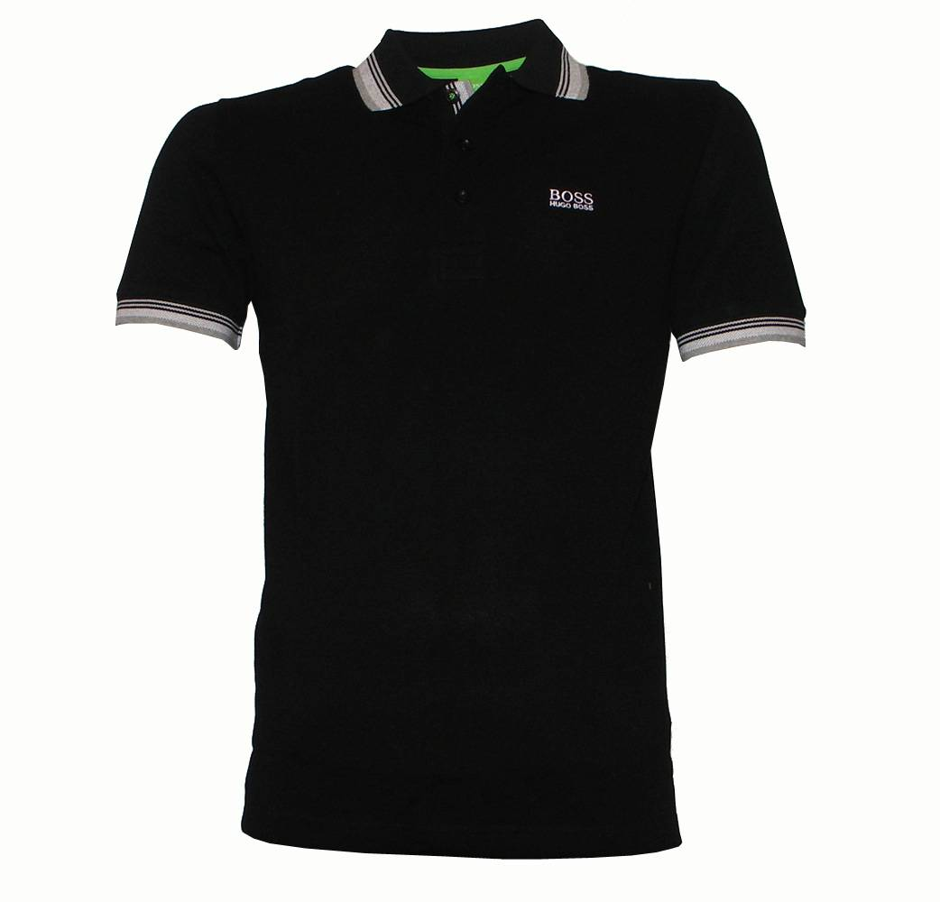 hugo boss green label paddy black polo shirt polo shirts. Black Bedroom Furniture Sets. Home Design Ideas