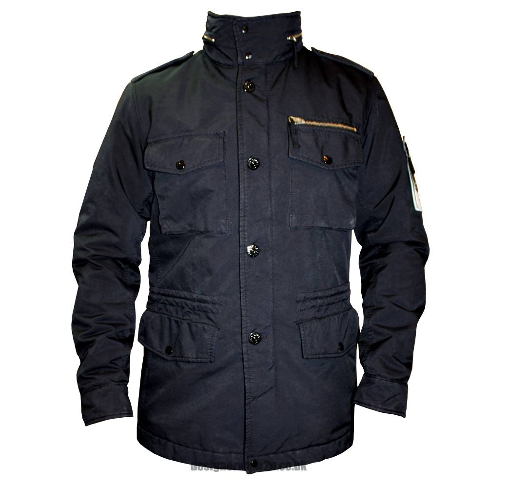 Stone Island Navy Hooded Jacket