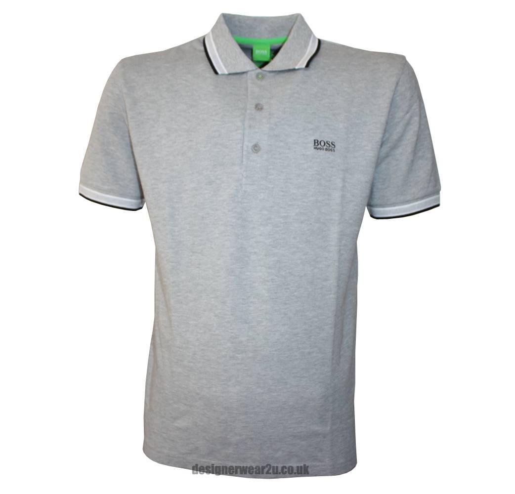Hugo Boss Green Label Paddy Grey Polo Shirt Polo Shirts