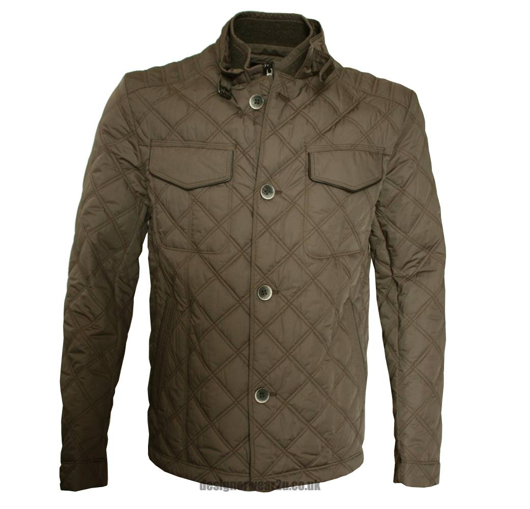 hugo boss camay1 brown quilted jacket jackets from designerwear2u uk. Black Bedroom Furniture Sets. Home Design Ideas