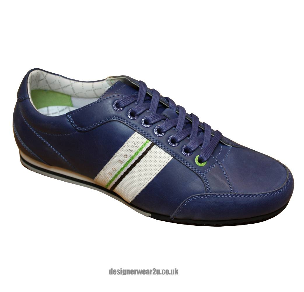 hugo boss blue victoire league trainers footwear from. Black Bedroom Furniture Sets. Home Design Ideas