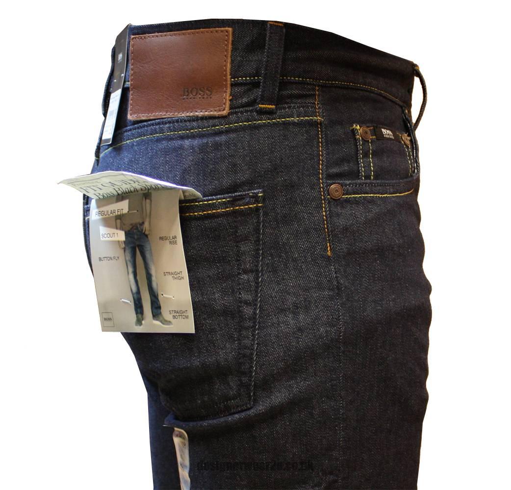 hugo boss black label scout 1 dark blue jeans jeans from designerwear2u uk. Black Bedroom Furniture Sets. Home Design Ideas