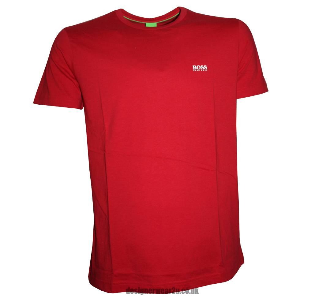 Hugo Boss Red Short Sleeved T Shirt T Shirts From