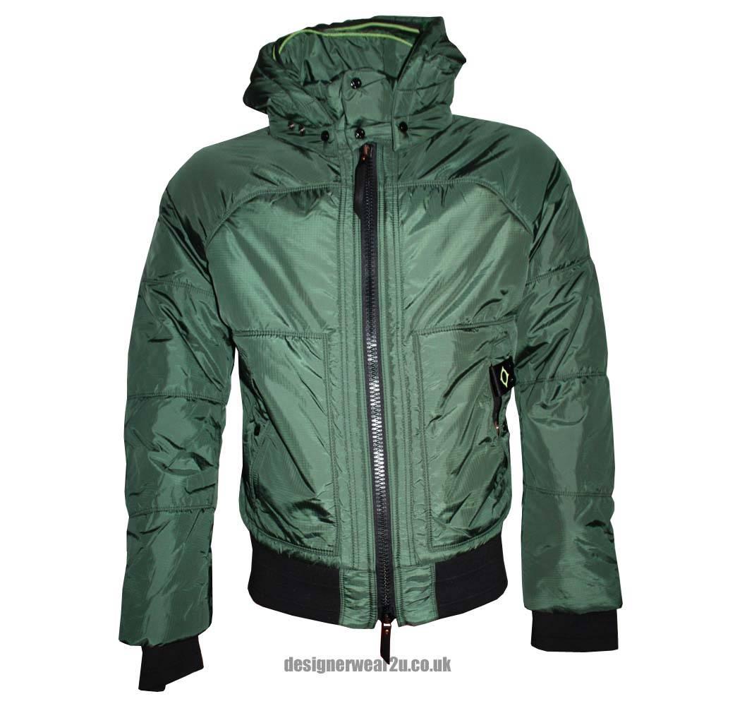 ma strum green rip stop bomber jacket jackets from designerwear2u uk. Black Bedroom Furniture Sets. Home Design Ideas
