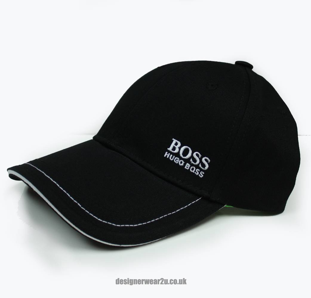 Hugo Boss Black Cap With Small Logo Hats From