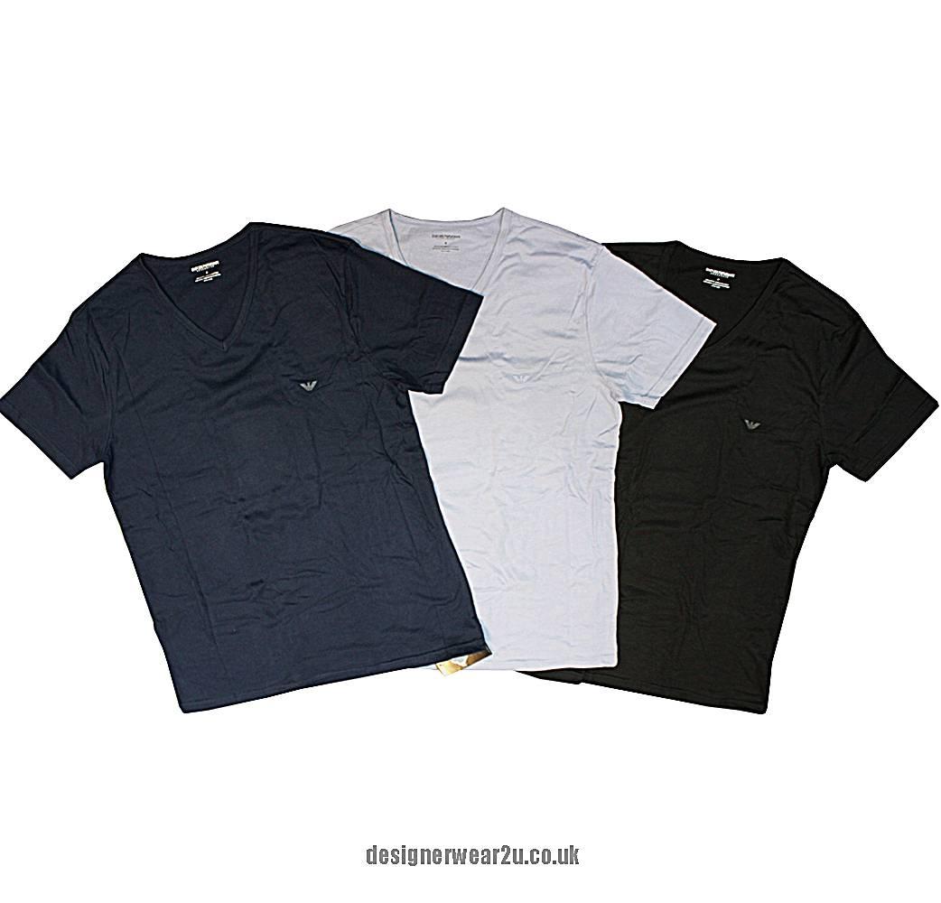 Armani t Shirt Pack Emporio Armani V-neck 3 Pack