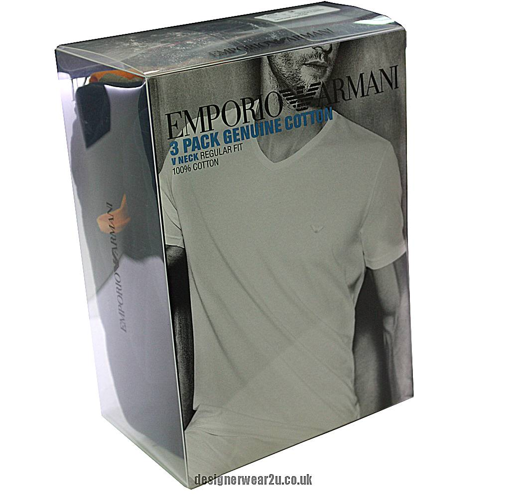 Armani t Shirt Pack 3 Pack Cotton T-shirts