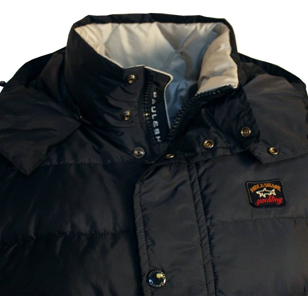paul shark navy down hooded gilet jackets from. Black Bedroom Furniture Sets. Home Design Ideas