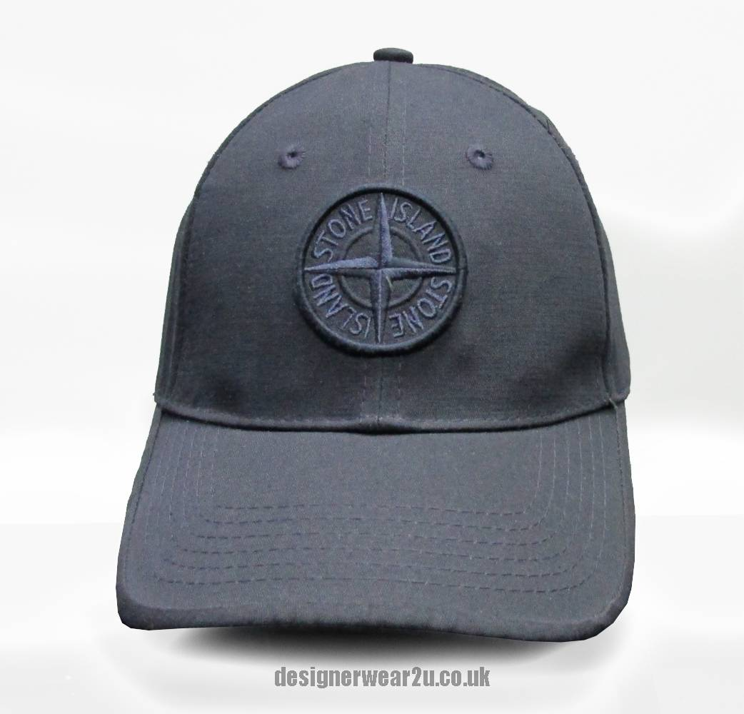 S.Island Stone Island Navy Cap With Embroidered Patch Logo