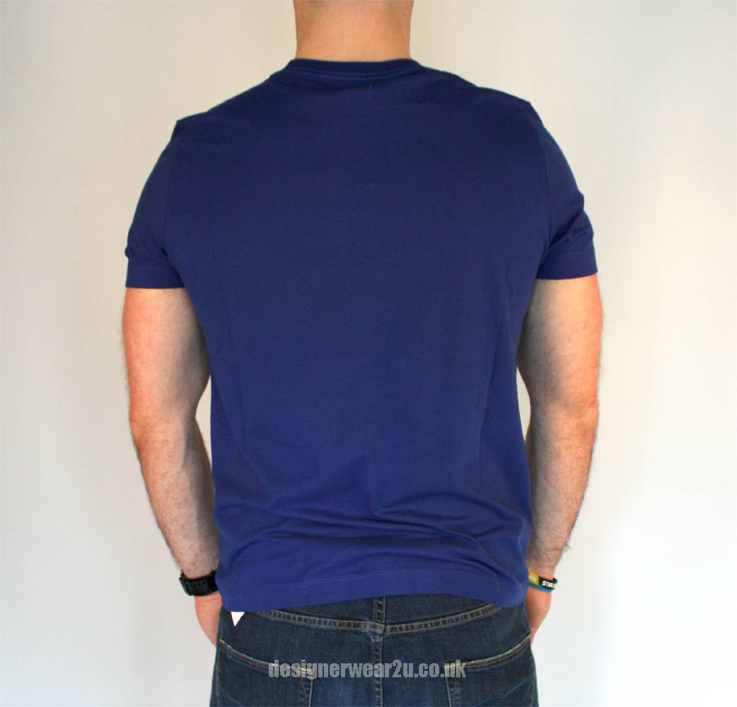 Cp company blue t shirt with graphic printed label t for Graphic t shirt printing company