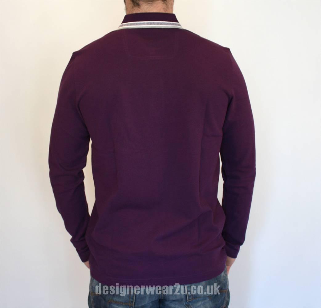 Hugo boss plisy purple long sleeved polo shirt polo for Long sleeve purple polo shirt