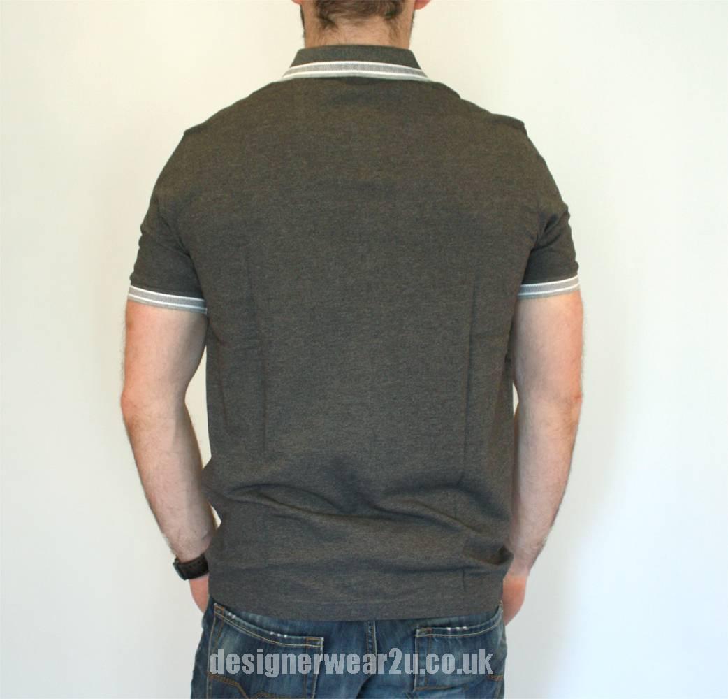 Hugo Boss Grey Paddy Short Sleeved Polo Shirt Polo