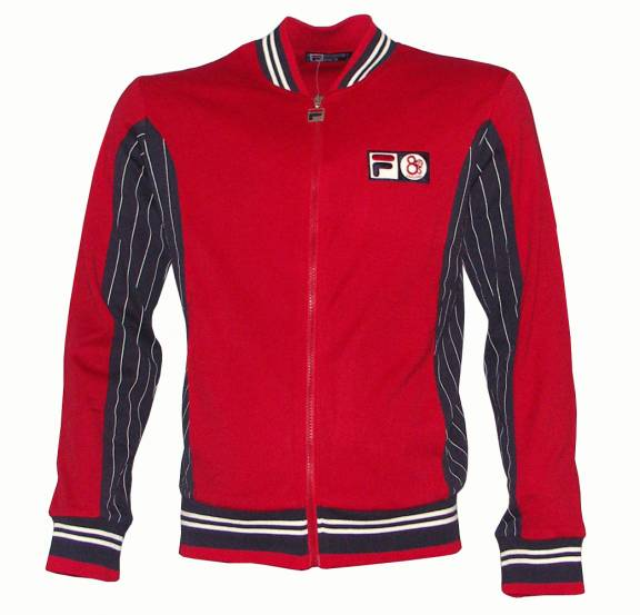 80s Casual Amp Fila Track Top Red Tracksuits From