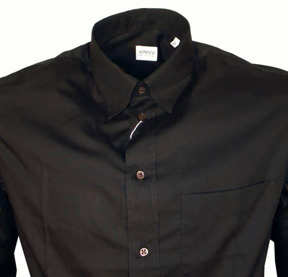 buy online 94ddd 6c600 Armani Jeans Armani Collezioni Black Long Sleeve Shirt
