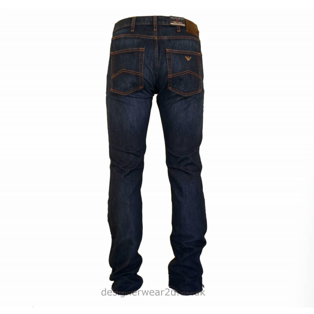 1f5627a54d95 Armani Jeans Armani Dark Blue Wash Classic Jeans J21 Fit - Jeans ...