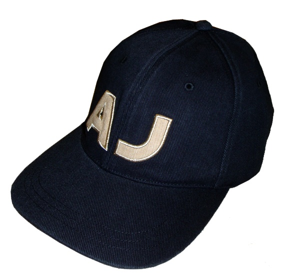 Armani Jeans Black Logo Baseball Cap - Hats from DesignerWear2U UK b040eead736