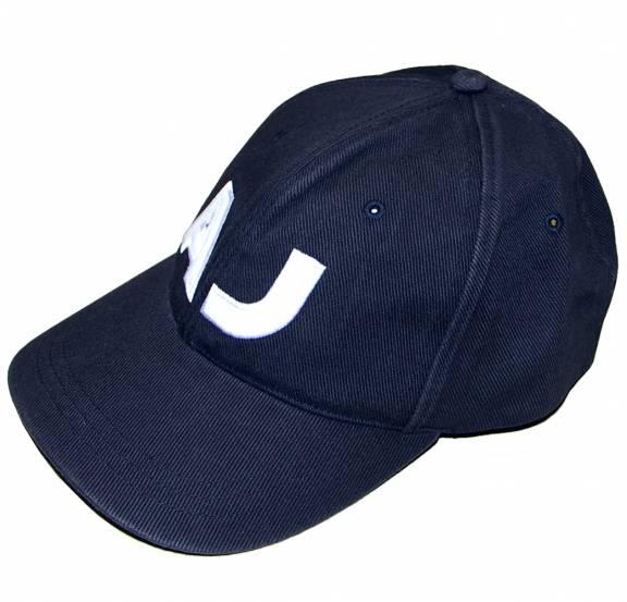 7f985b5c1262d Armani Jeans Navy Logo Baseball Cap - Hats from DesignerWear2U UK