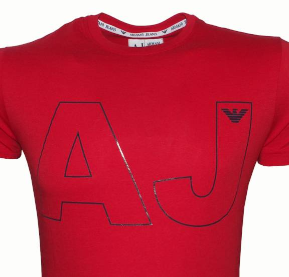 armani jeans t shirt red