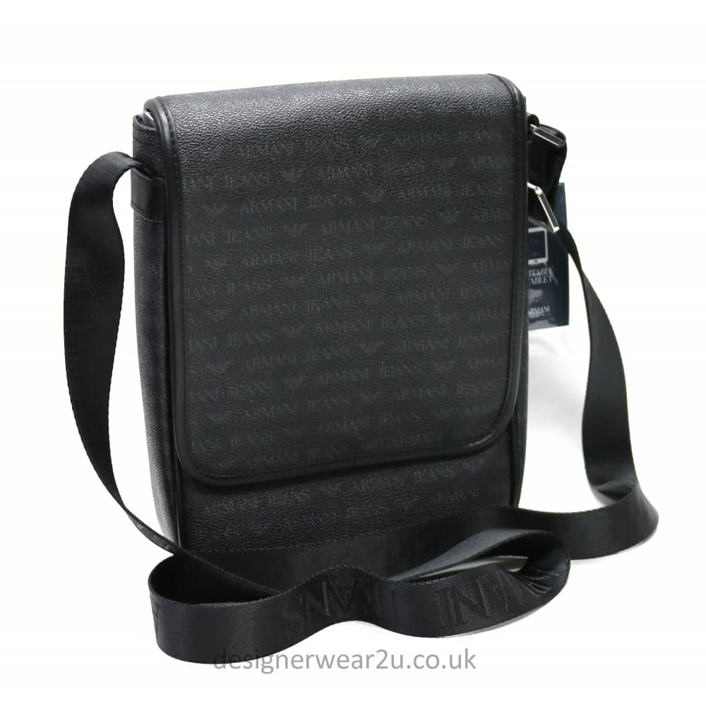 3aec194b061d Armani Jeans Black All Over Logo Messenger Bag - Accessories from ...