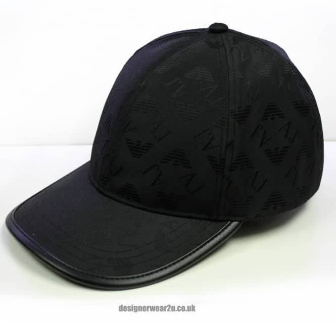 5449f717 Armani Jeans Armani Jeans Black Cap With All Over Logo