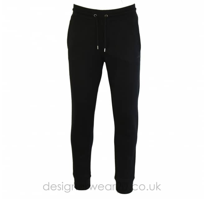 Armani Jeans Armani Jeans Black Cotton Fleece Joggers