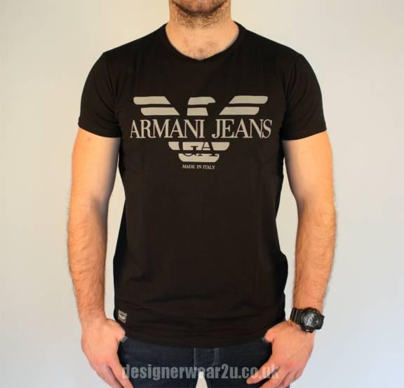 T Slim Shirt Black Jeans Armani Fitting oBdrCxe