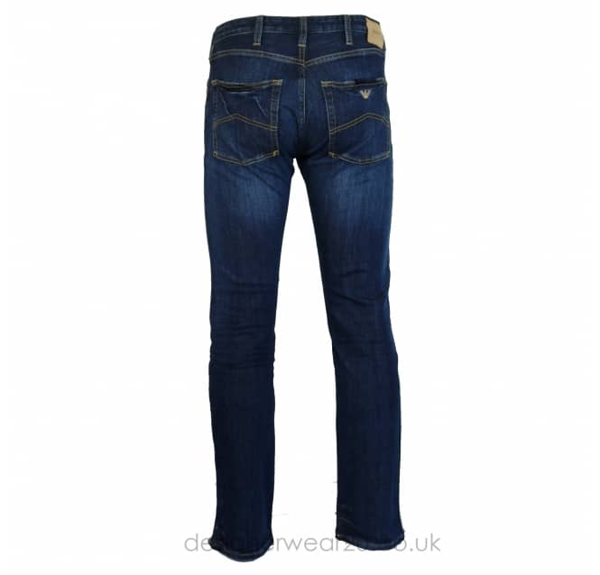 Armani Jeans Armani Jeans Blue J45 Slim Fitting Jeans in 30