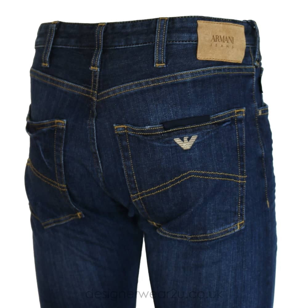 Armani Jeans Blue J45 Slim Fitting Jeans in 30