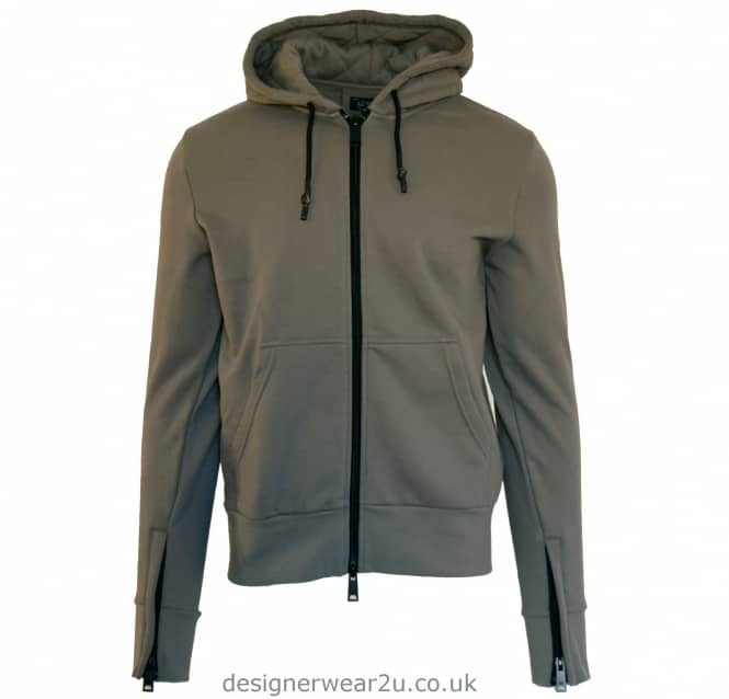 Armani Jeans Armani Jeans Hooded Full Zipper Sweatshirt in Grey