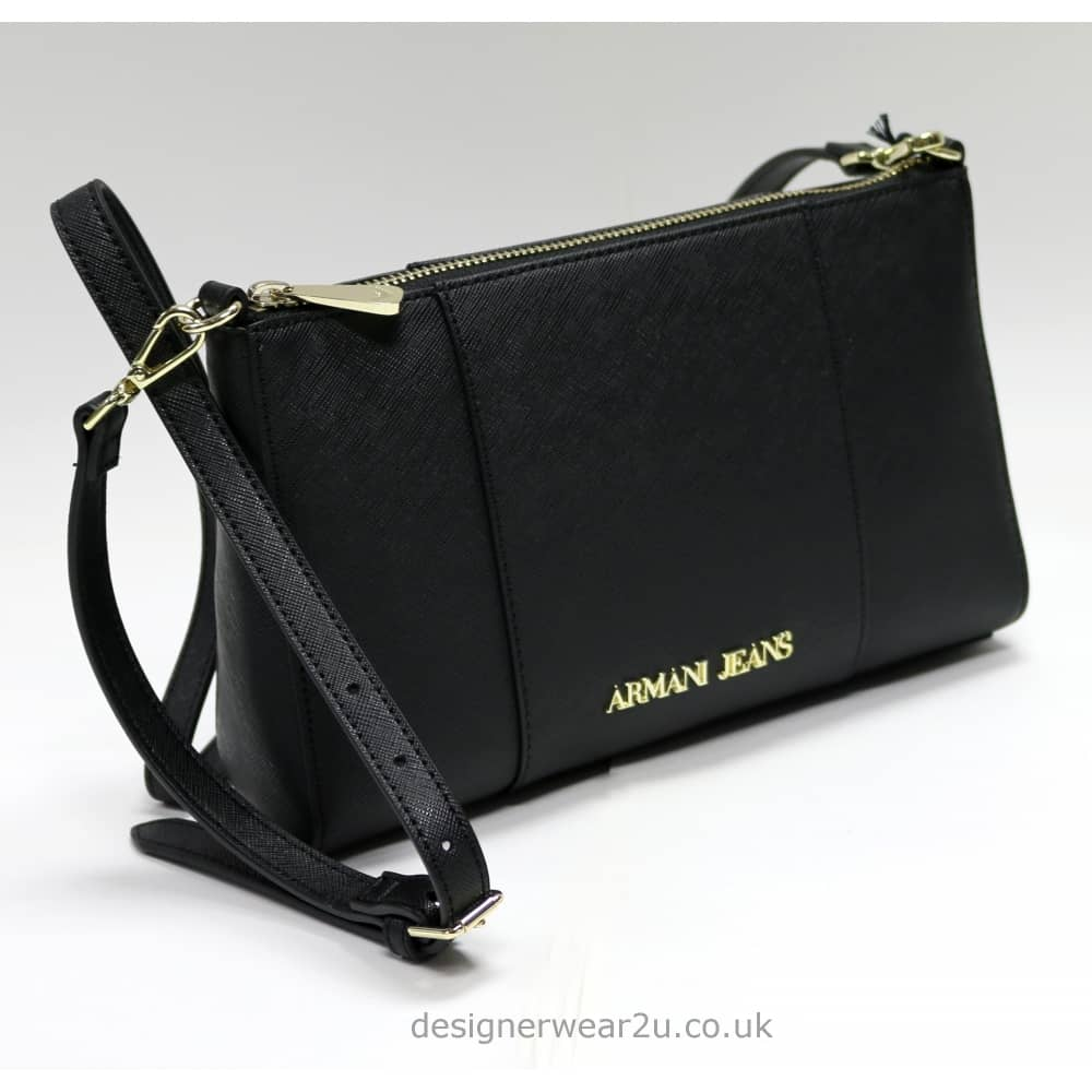 Armani Jeans Ladies Armani Black Small Cross Body and Clutch Bag ... b9f2700d750