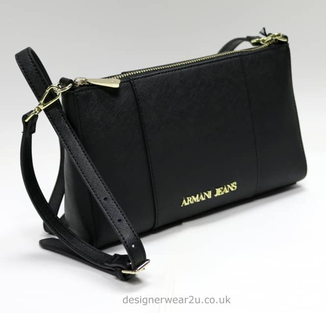 d679cb69bd45 armani jeans ladies black small cross body and clutch bag accessories uk