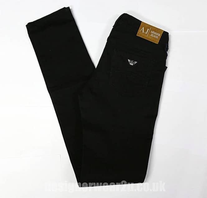 c6fd13e61f33e Armani Jeans Ladies Moleskin Feel Jeans in Black - Ladies from ...