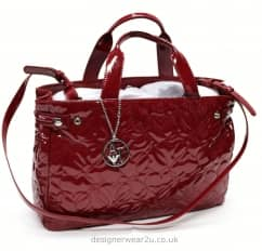 Armani Jeans Patent Red Shopper with Lovehearts