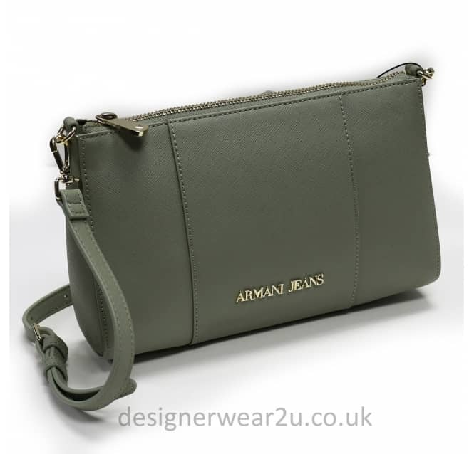 Armani Jeans Ladies Armani Jeans Taupe Across The Body Clutch Bag