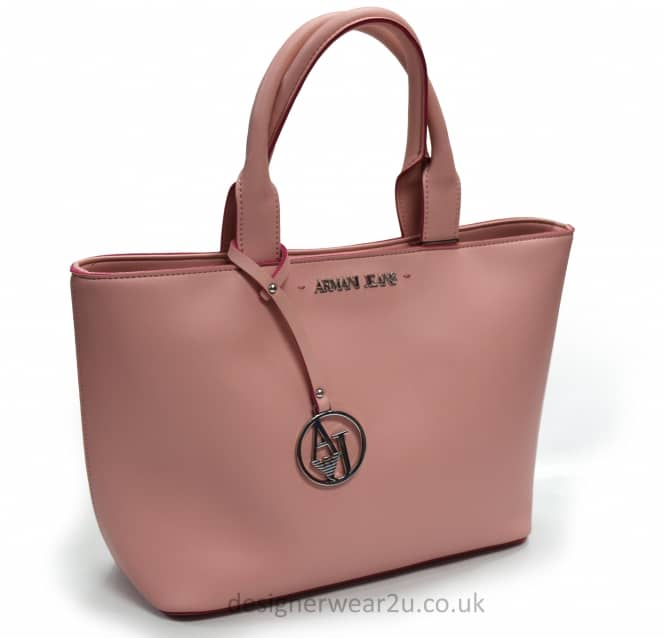Armani Jeans Ladies Armani Jeans Trimmed Tote Bag in Pink