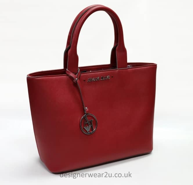 Armani Jeans Ladies Armani Jeans Trimmed Tote Bag in Red