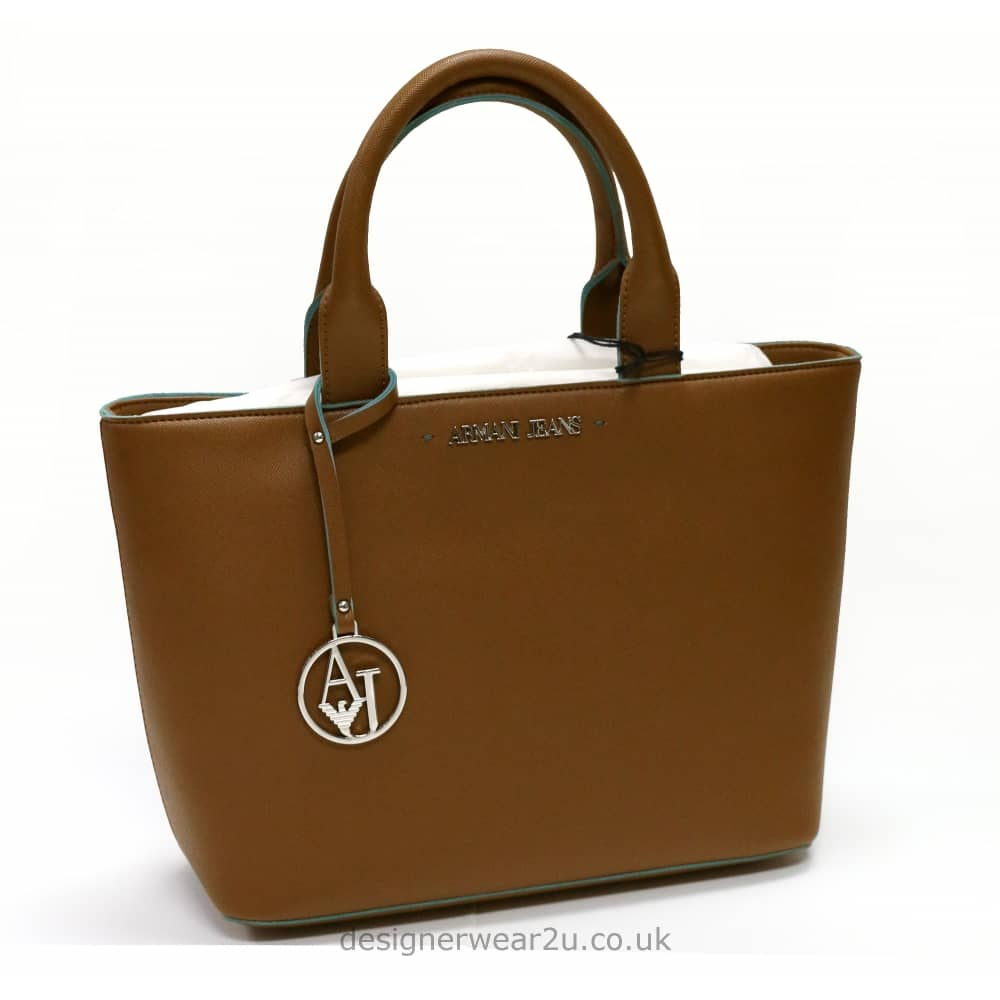 Armani Jeans Ladies Armani Jeans Trimmed Tote in Tan - Ladies from ... fa04341896827